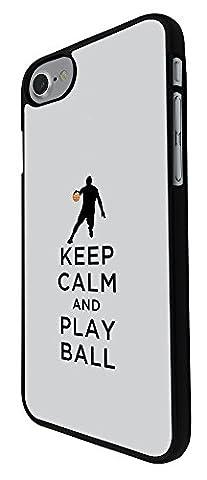 002788 - Keep Calm And Play Ball Football Soccer Design iphone 8 4.7