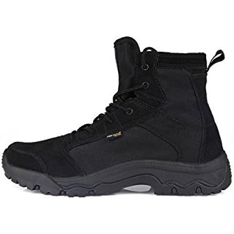 Soldado libre al aire libre hombres tormenta ultraligero Tactical botas transpirable zapatos ligero y duradero, 8, Negro