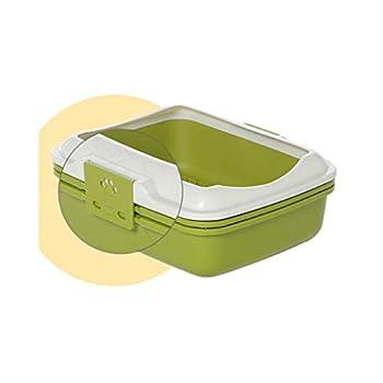 Wcx Rotin Toilette Chat,Toilette Chats À Trois Niveaux Cycle Antibactérien Durable Facile À Nettoyer (Couleur : Green)
