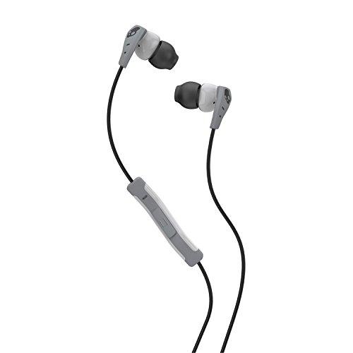 Skullcandy Method Cuffie Intrauricolari con Microfono in linea, Grigio chiaro/Grigio