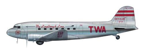 hobby-master-hl1303-douglas-dc-3-twa-lindbergh-line-1200-die-cast-model-by-airliners