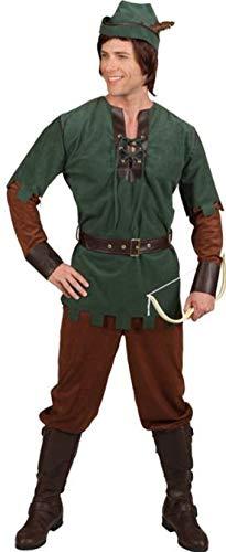 O7567-54-56 grün-braun Herren Robin Hood Kostüm Gr.54-56 (Girl Jäger Kostüm)