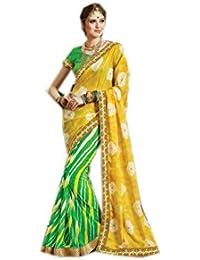 Mantra Fashions Women's Georgette Saree (Mant14_Multi)
