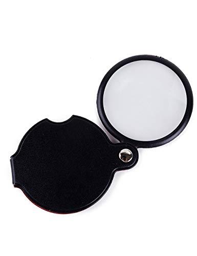 Miniatur-50 Licht-set (ZNfdj Lesen Handlupe, 5X 10X HD Kleine Tragbare Faltende Lupe/Old Man Liest Zeitung Ansicht Karte Miniatur Beobachtung)