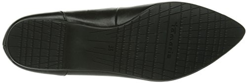 Tamaris  22106, Ballerines pour femme Noir - Schwarz (Black Leather 003)