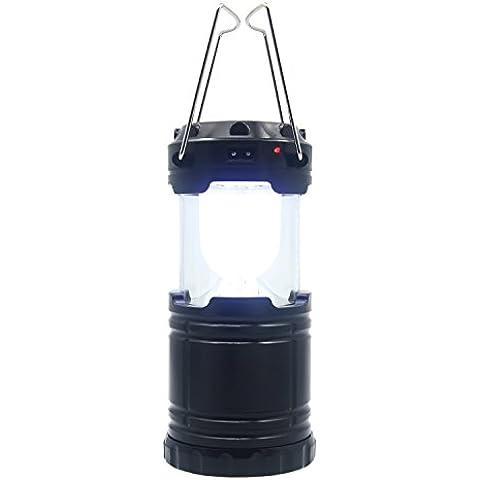 Gosear Alimentación Solar Portátil Tienda Emergencia Estirable Iluminación Linterna Lámpara para Acampando Yendo de Excursión Campo al Aire Libre,Negro