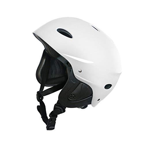 Vihir BMX Helm Skaterhelm Fahrradhelm Herren Damen Jungs & Kinderhelm Wasserhelm mit Ohrenschützer ABS+Eva, Weiß/M