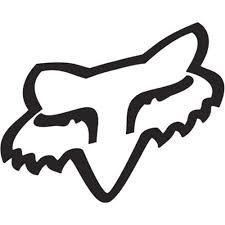 Aufkleber Auto Racing (Aufkleber Fox Racing Head Sticker Decal Vinyl : White127mm Decal)