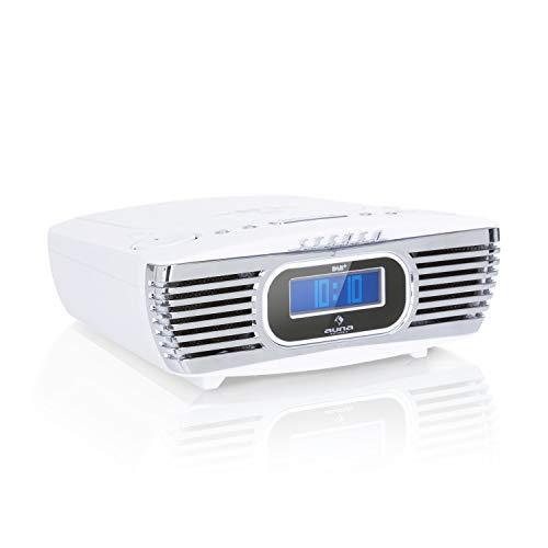 auna Dreamee DAB+ - Radiosveglia con Lettore CD, Radio Retrò, Radio Digitale,...