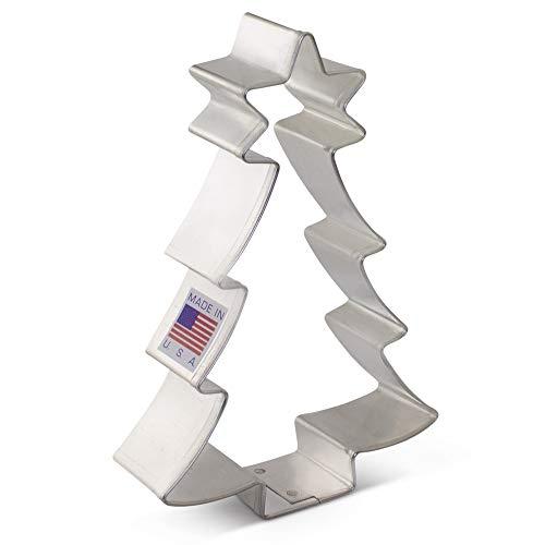 Weihnachtsbaum mit Stern Cookie Cutter-10,2cm-Ann Clark-Uns verzinntem Stahl Ice Cutters