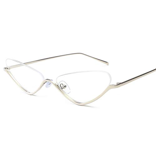FIRM-CASE Katzenaugen-Sonnenbrille Frauen Metall Kleiner Rahmen Sonnenbrillen neue Art und Weise Brillen, 3