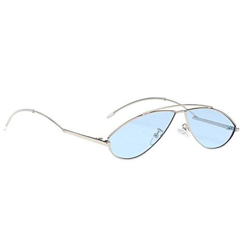 Homyl Polarisiert UV400 Schutz Katzenaugen Damen Sonnenbrillen - Splitter-Rahmen-blaues Objektiv