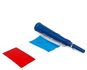Atosa-24579 Atosa-24579-Corneta con Bandera Francia 36X5 cm-Mundial De Fútbol Y Deportes, Color Azul, Blanco y Rojo (24579