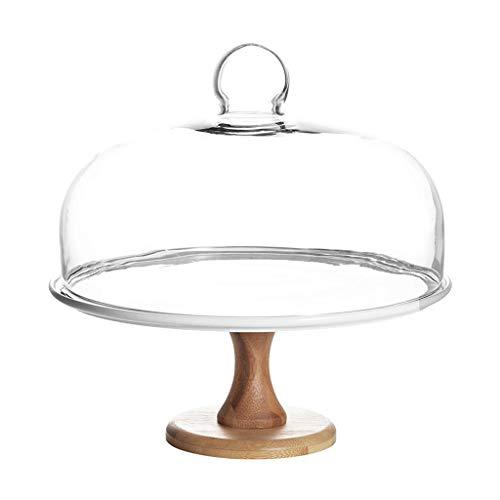 Platte Wohnzimmer Dessert Regal, Dekoration Regal Kuchen Kuppel Obst Kuppel Staub Kuchen Abdeckung Glas Käse Kuppel Küche Dessert Abdeckung Haushalt (Größe: 21,8 * 21,8 * 23 cm) (Glas-kuppel, Kuchen-abdeckung)