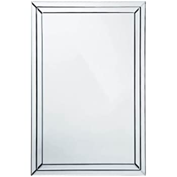 mirror 60 x 90. premier housewares wall mirror bevelled clear edge, 60 x 90 cm \