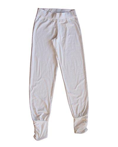 Leela Cotton Damen Freizeit, Yoga Hose Bio-Baumwolle (L, Naturweiß)