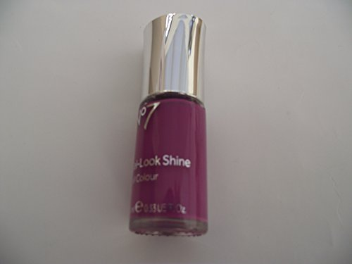 Stiefel No 7 Gel Look Glanz Nail Farbe/Politur/Lack in lila Bouquet 10 ml (Cupcake Nagellack)