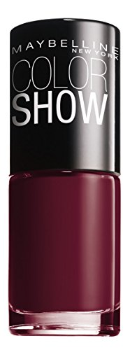 Maybelline New York Color Show Smalto Asciugatura Rapida, 352 Downtown Red