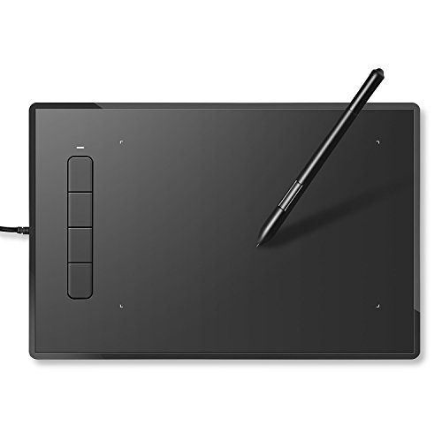 INTEY Grafiktablett mit Digital-Stift/Smart Stylus 9 x 6' mit 4 Tasten Grafik-Tablet ohne Batterie &...