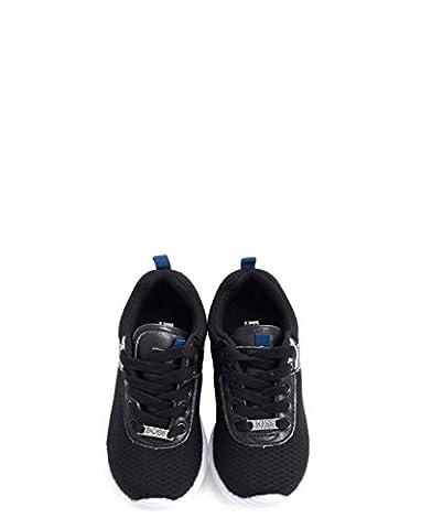 Hugo Boss Kids Fabric Logo Lace Up Running Shoes 5 BLACK