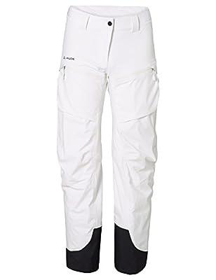 Vaude Womens BOE Pants - White - - Wasserdichte elastische 3-Lagen Damen Skihose