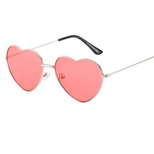 VRTUR 1 Stück Damen Metall Sonnenbrillen Nettes Herz-Form-Design Objektiv Outdoor Brillen Form Sonnenbrillen Unisex(One size,N)