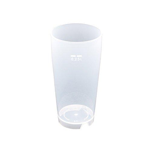 100 Stück 0,25L Mehrwegbecher PP transparent
