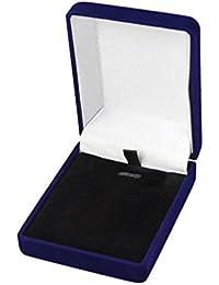 Terciopelo collar con colgante joyas cajas de regalo pendientes anillo pantalla organizador de almacenamiento Caja de regalo), color
