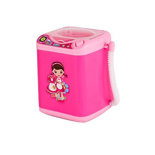 Kosmetik Reinigung, LeeMon Mini Waschmaschine, Make-up Pinselreiniger Gerät Automatische Reinigung Waschmaschine Mini Spielzeug Kind Reinigung Spielzeug (Rosa)