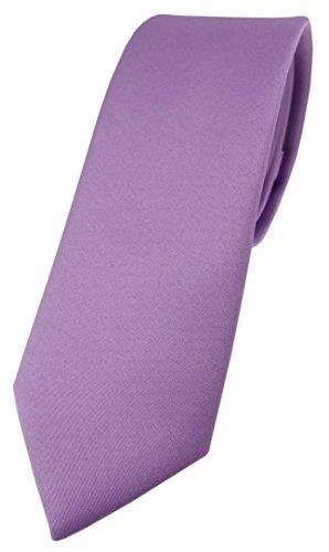 igner Krawatte in dunkles flieder einfarbig Uni - Tie Schlips ()