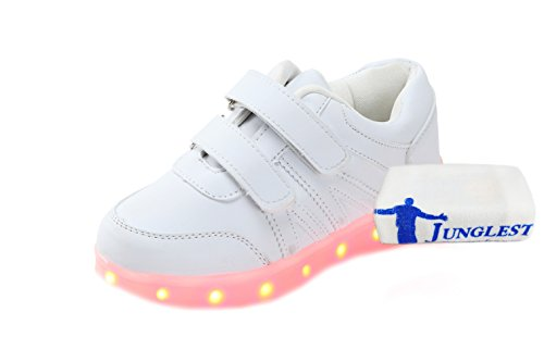 c0 EU 27,[+Kleines Handtuch] weibliche LED-Licht-emittierende mit Lichter Klettverschluss Mode-Schuhe, Korean und weise blinken für Leucht männliche