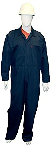 Chicago Protective Apparel 605-FRC-N-XL FR Cotton Coverall, X-Large, Navy by