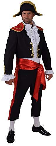 narrenkiste M208205-M-A schwarz-rot Herren Torero-Stierkämpfer-Spanier Kostüm Gr.M=52