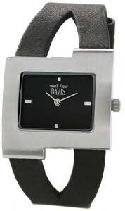 Davis 1400 Women's Analog Quartz Steel Watch with Black Steel Watch