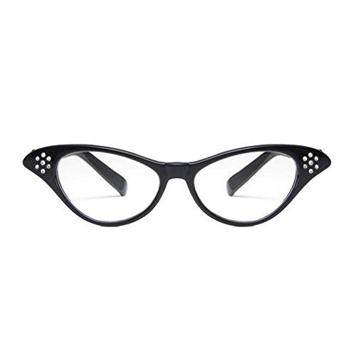 Meisijia Diamante Retro Kunststoff-Glas-Rahmen Harzlinse Frauen Dekoration Gläser Eyewear für Custume/Parteien