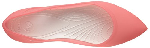 Crocs Rio Flat W, Ballerines - Femme Rouge (Coral/Oyster)