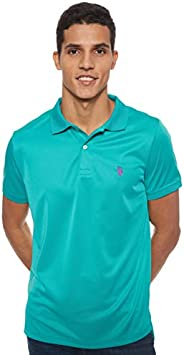 U.S. POLO ASSN. Men's Classic Fit Short Sleeve Solid Poly Polo S