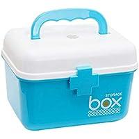 Foonee Household Medical Storage Box, Primeros Auxilios Clear Top Case Bandeja Extraíble y Mango, Multi-layer First Aid Kit Medicine Storage Box.