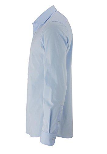 Eterna Herrenhemd Langarm Slim Fit Blau Hemd Freizeithemd Businesshemd Langarmhemd Baumwollhemd bügelfrei Hellblau