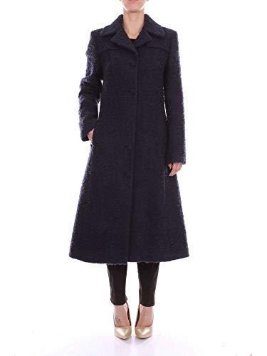 Blumarine Damen 14652BLUE Blau Wolle Mantel
