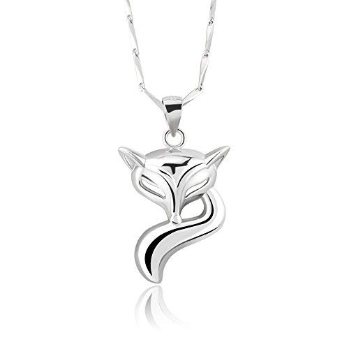 Pugster Damen-Silber Herz & Pfeil Hot Fox Anhänger Halskette Verkauf mit 45,7cm Kette für Mädchen Geschenke -