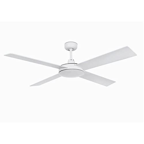 31cT mM5USL. SS500  - Faro Barcelona Mallorca 33350 – Ceiling Fan Without Light, Steel with Plywood Blades Colour: White