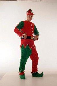 Elf Mr Velvet Red Green with Bells Suit