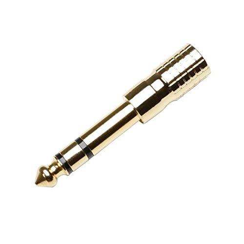 Adam Hall 7543 G Adapter 3, 5 mm stereo Klinke female auf 6, 3 mm stereo Klinke male vergoldet