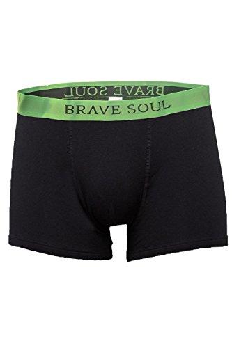 Brave Soul Herren Relaxed Retroshort Black Green Orange