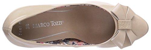 Marco Tozzi 22404, Chaussures à talons - Avant du pieds couvert femme Blanc - Elfenbein (Cream / 403)