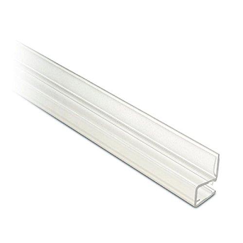 Lippendichtung für Glastür, Eckanschlag 90°, L 2500 mm für Glasstärke 6 - 8 mm