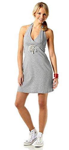 Flashlights Damen-Kleid Freizeit-Kleid Shirt-Kleid Neckholder-Kleid grau-meliert Gr. 32
