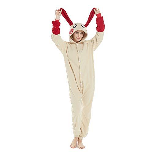 DASENLIN Pyjama Kostüm Cosplay Jumpsuit Overall Rote Kaninchen -