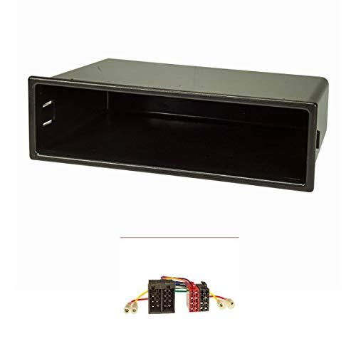 tomzz Audio 2434-019 Radioblende Set passend für Mercedes A, M, Vaneo VW Passat Golf IV Bora mit Radioadapter ISO